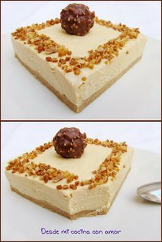 desde mi cocina con amor: TARTA MOUSSE DE TURRÓN. Aconsejo comerla muy, muy fria. Cheesecake Recipes, Dessert Recipes, Tapas, Spanish Desserts, Thermomix Desserts, Cakes And More, No Bake Cake, Yummy Cakes, Love Food