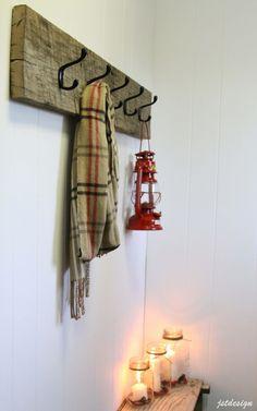 Rustic Barn Wood Coat Hook & Budget Friendly Door Knob Makeover - JST Design