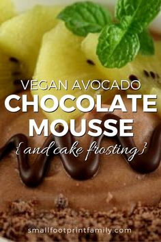 This raw vegan chocolate mousse is both delicious and nutritious. Works as a decadent Paleo cake frosting, too. You'll like it better than the dairy version!  #paleo #paleodiet #glutenfree #dairyfree #vegan #vegetarian  #rawvegan #recipe #grainfree #realfood #dessert