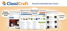 ClassiCraft – Powerful Responsive Classified Ads Listing WordPress Theme