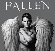 Fallen by Lauren Kate Fallen Novel, Fallen Book, Lauren Kate, Movies And Series, Book Series, Serie Fallen, Fallen Saga, Male Angels, Jeremy Irvine