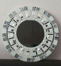 Mirror Mosaic, Mosaic Art, Cd Art, Mosaic Madness, Mosaic Patterns, Various Artists, Artist At Work, Garden Art, Frame