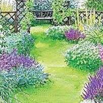Wer seine Pflanzen überlegt auswählt, kann die Reize jeder Jahreszeit in  vollen Zügen genießen. Bunt blühendes Sommerkleid oder weißer Wintermantel? Unser Beispielgarten zeigt sich rund ums Jahr von seiner besten Seite.
