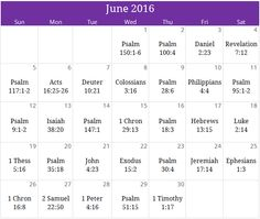 "June 2016 ""Praise"" prayer calendar.  Email us at calendar@iprayallday.com"