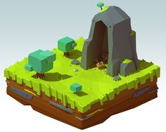 Treasure island (lowpoly) on Behance