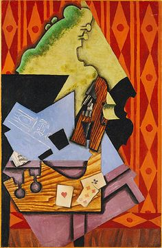 School of Paris, a thematic essay on the Heilbrunn Timeline of Art History | Juan Gris (Spanish, 1887–1927). Violin and Playing Cards, 1913. The Metropolitan Museum of Art, New York. Bequest of Florene M. Schoenborn, 1995 (1996.403.14) #paris