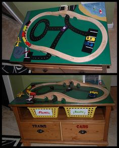 Easy, DIY train table inspiration from a coffee table