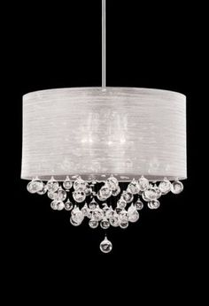 New 4 Lamp Drum Shade Crystal Chandelier Pendant Ceiling Light Lighting Dia 20 Drum Shade Chandelier, Ceiling Chandelier, Pendant Chandelier, Pendant Lighting, Ceiling Lights, Light Pendant, Drum Pendant, Silver Chandelier, Crystal Chandeliers