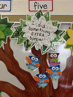 Clearly Kindergarten: Classroom Management I love this idea and it works great in my owl themed classroom!! Too fun!!