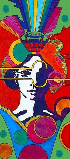 psychedelic 60s` ads