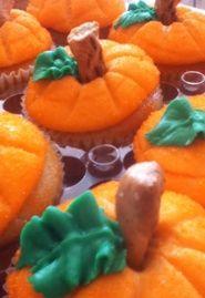 Pumpkin Cupcakes from Sugar Rush Cupcakes in Wallkill, NY  Like us! https://www.facebook.com/sugarrushcupcakeswallkill
