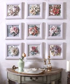 Evgenia ermilova s photos Plaster Crafts, Plaster Art, Flower Frame, Flower Art, Garden Diy On A Budget, Garden Ideas, Diy And Crafts, Arts And Crafts, Diy Y Manualidades