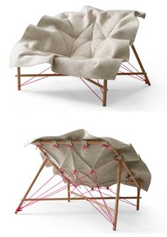 60gritbeard:ninakix:    students from design academy Eindhoven teamed up with Leolux furniture to create some pieces… (via)