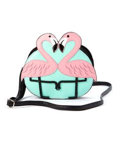 Look what I found on #zulily! Sleepyville Critters Pink Flamingo Crossbody Bag by Sleepyville Critters #zulilyfinds
