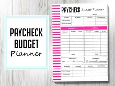 Budget Sheet Template, Budget Planner Template, Monthly Budget Planner, Excel Budget, Planner Dividers, Financial Planner, List Template, Planner Inserts, Templates