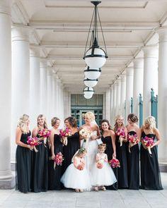 Elegant Black Bridesmaid Dresses   By Shea Photography