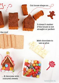 Hans en Grietje traktatie fairy tales and fairy tales for kids the best self-makers, DIY, bento, fashion and more moodkids. Christmas Crafts For Kids, Christmas Baking, Christmas Diy, Birthday Treats, Party Treats, Easy Gingerbread House, Bento, Hansel Y Gretel, Food Humor