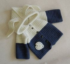 Items similar to baby cardigan. on Etsy - babys Crochet Baby Sweater Pattern, Baby Sweater Patterns, Knitted Baby Cardigan, Baby Pullover, Baby Knitting Patterns, Hand Knitting, Hooded Sweater, Baby Girl Sweaters, Baby Jumper