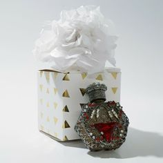 Czech beaded perfume bottle in gift box, gift for her, xmas gift idea free ship Empty Perfume Bottles, Vintage Perfume, Xmas Gifts, Snow Globes, Gifts For Her, Free Shipping, Box, Snare Drum, Christmas Presents