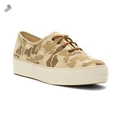 Keds Women's Triple Ripstop Fashion Sneaker, Tan Camo, 8 M US - Keds sneakers for women (*Amazon Partner-Link)