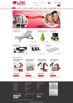 E-Commerce Webdesign made by 4market | www.4market.de/ | Onlineshop für Möbel