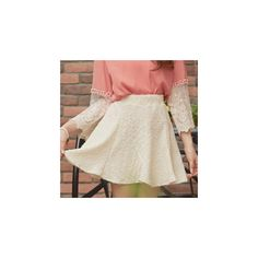 Nubby A-Line Skirt ($26) ❤ liked on Polyvore