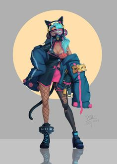 Sci fi character art: the wildest fantasies come alive - The Designest Female Character Design, Character Design References, 3d Character, Character Design Inspiration, Cyberpunk Kunst, Wallpaper Animes, Cyberpunk Aesthetic, Urbane Kunst, Cyberpunk Fashion