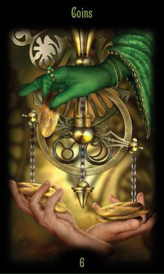 Card of the Day – 6 of Pentacles – Monday, October 31, 2016 « Tarot by Cecelia