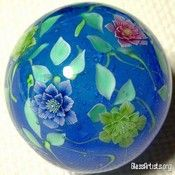 Double Christmas Rose Flower Marble « { Flower Marbles } - Glass Artists.org