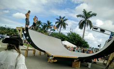 Grab your board and jump on the Half Pipe on the waterfront