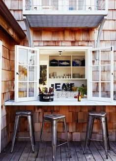This would be so great! Opening from the kitchen onto the porch. Love this.
