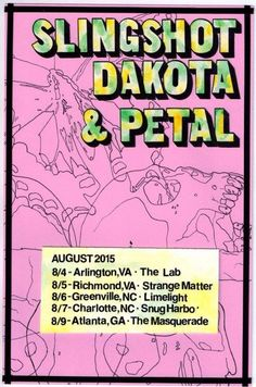petalpa:  Can't wait to hit the road with my amazing friends slingshotdakota! Let's party!  This is coming up really fast and I cannot wait. If you're in one of these cities, tell me what you want to hear.