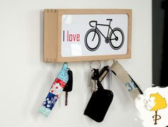 Schlüsselbretter & -kästen - Schlüsselkasten,Schlüsselbrett,Rad,Rennrad, - ein Designerstück von P-tree bei DaWanda