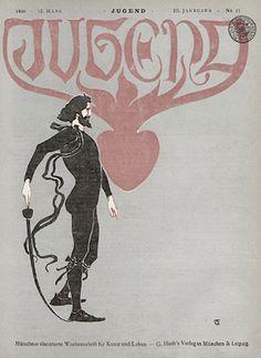 cover for Jugend Magazine, 1898  |  via:  http://fletchingarrows.tumblr.com
