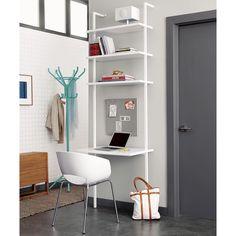 stairway white desk in office furniture | CB2
