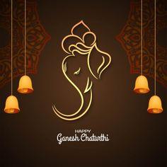 Ganesh Chaturthi Photos, Ganesh Chaturthi Greetings, Happy Ganesh Chaturthi Images, Ganesha Painting, Ganesha Drawing, Ganesha Art, Lord Ganesha, Greeting Card Maker, Logo Image