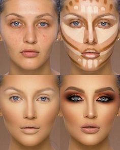 37 Tutorial for pretty makeup for beginners and students 2019 - Beauty Make-Up Best Contouring Products, Contouring And Highlighting, Best Makeup Products, Best Highlighter Makeup, Makeup Tips Contouring, Best Makeup Tips, Makeup 101, Makeup Guide, Highlight Contour Makeup