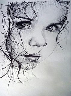 Secrets Of Drawing Realistic Pencil Portraits - Guilty - print by illya - SAShE.sk - Handmade Kresby Secrets Of Drawing Realistic Pencil Portraits - Discover The Secrets Of Drawing Realistic Pencil Portraits Realistic Drawings, Art Drawings Sketches, Pencil Art Drawings, Drawing Faces, Baby Drawing, Girl Pencil Drawing, Pencil Portrait Drawing, Hipster Drawings, Horse Drawings