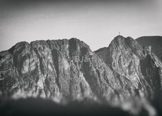 Giewont mountains Tatry #tatry #blackandwhite #photo Framed Prints, Canvas Prints, Art Prints, Cool Photos, Amazing Photos, Art Boards, Wall Art, Mountains, Photography