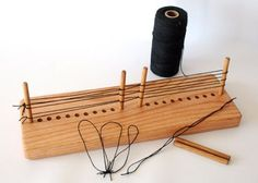 Heddle Maker Jig for Creating String Wire Heddles for Rigid Heddle Inkle Small Table Multi 2 4 8 Shaft Looms Adjustable up to 11 inches