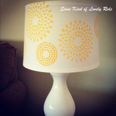 DIY lampshade stencil - paint with turquoise?