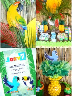 Shop Rio inspired birthday party supplies and printables