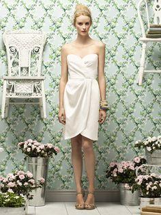 lela rose bridesmaid dress in glamour satin, ivory