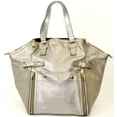 ysl gold exotic leathers handbag downtown