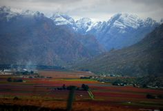 Winter in the Hex River Valley, Westen Cape South Africa, Cape, Scenery, River, Mountains, Places, Nature, Pictures, Beauty