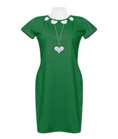 Make a simple day classy and interesting having this green dress with sleeves. Cotton fabric, body fitting. The chest cutouts make this one extra appealing! #syalacollections #casual #dress