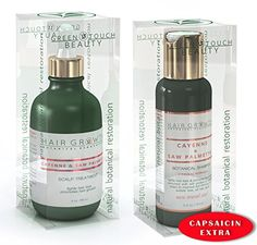 AntiHair Loss Value 2PC Gift Set Cayenne  Saw Palmetto  Scalp Stimulating Botanical Formula Natural DHT Blocker and Alopecia Prevention  Shampoo 34 Oz  Scalp Hair Oil 4 oz * Find out more about the great product at the affiliate link Amazon.com on image.