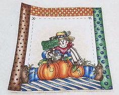 "Vintage Thanksgiving Fall ""Free Pumpkins""  Applique Iron On  7 x 7"