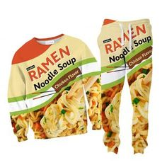 They say you are what you eat, so maybe some of you college students out there can relate to this one. Now with real *chicken* flavour! Our sweaters and joggers Snack Recipes, Snacks, Chicken Flavors, Ramen Noodles, What You Eat, College Students, Joggers, Chips, Soup