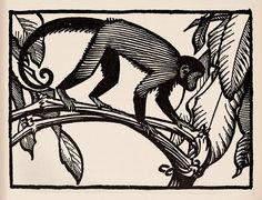 Monkey - Keith Henderson Illustration for The Purple Land c.1930 | by Thomas Shahan 3